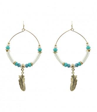 Ohrringe - Perlen, blau