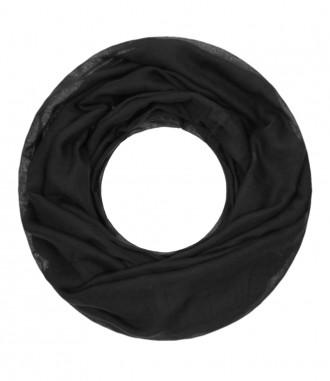 Damen Loop Schal, uni, schwarz