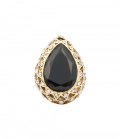 Ring - Tropfen, gold