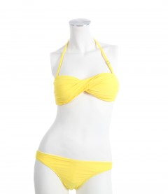 Bikini - Bandeau gelb