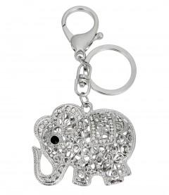 Schlüsselanhänger - Elefant, silber