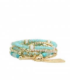Armband, blau