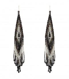 Ohrringe - Perlen, schwarz
