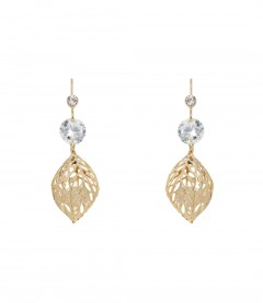 Ohrring - Strass, gold