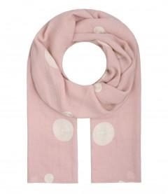Damen Schal uni Kreise, rosa
