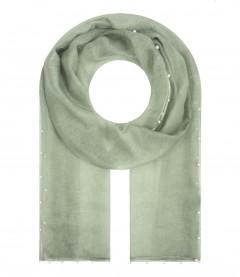 Damen Schal - Perlen, transparent, grün