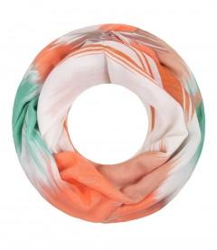 Loop Schal - gezackter Farbverlauf, orange