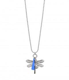 Damen Halskette - Libelle, silber