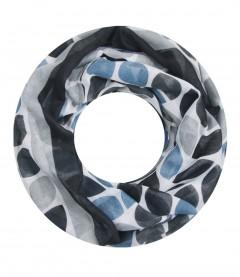 Damen Loop Schal - gemustert, schwarz