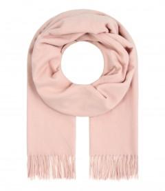 Damen Schal - einfarbiger Winterschal, rosa