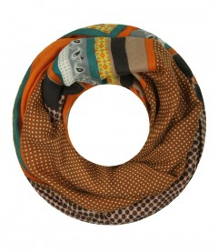 Damen Loop Schal - Muster Mix, orange