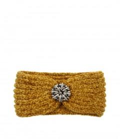 Damen Stirnband - Glitzer, senfgelb