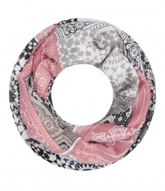 Damen Loop Schal - Muster Mix alt rosa