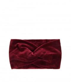 Damen Stirnband - Samt, rot