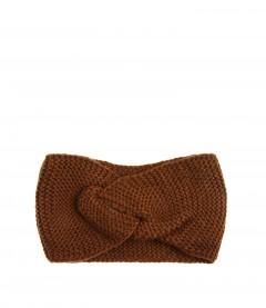 Damen Stirnband - Knoten, braun