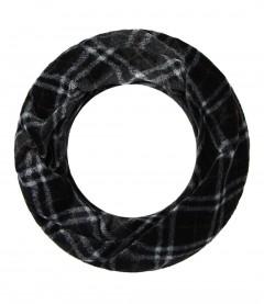 Winter Loop Schal - Teddy, schwarz