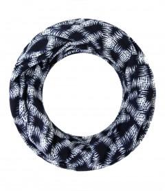 Winter Loop Schal - gemustert, blau