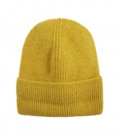 Basic Beanie Mütze - Feinstrick, gelb