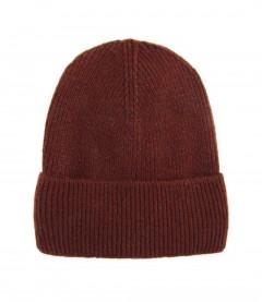 Basic Beanie Mütze - Feinstrick, rostbraun