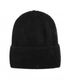 Basic Beanie Mütze - Feinstrick, schwarz