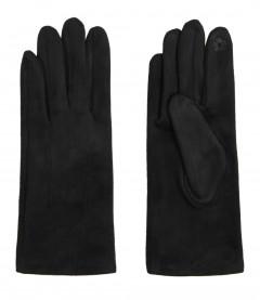 Einfarbige Damen Handschuhe, schwarz