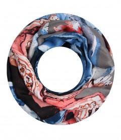 Damen Loop Schal - Muster Mix, rosa