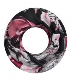 Damen Loop Schal - Muster Mix, grau