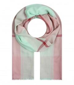 Damen Halstuch - Karo Muster, rosa