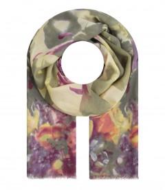 Damen Halstuch - Blumen, lila