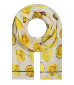 Damen Halstuch - Punkte, gelb