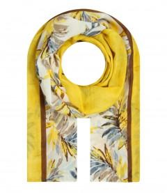 Damen Halstuch - Blätter, gelb