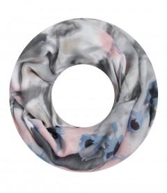 Damen Loop Schal - gemustert, grau