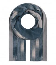 Damen Halstuch - gemustert, blau