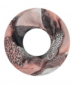 Damen Loop Schal - gemustert, rosa
