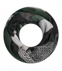 Damen Loop Schal - gemustert, grün