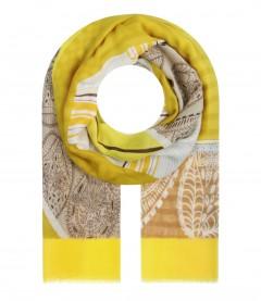 Damen Halstuch - gemustert, gelb