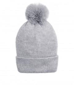 Mütze, hellgrau